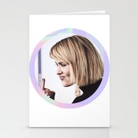 sarah paulson Stationery Cards featuring Sarah Paulson aka baddest bitch in town  by IrasHorrorStory