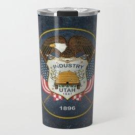 Utah State Flag - vintage version Travel Mug