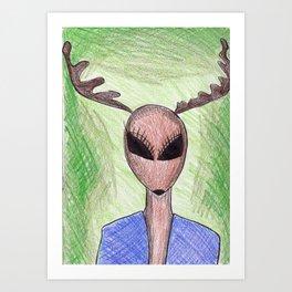 Deerie Me Art Print