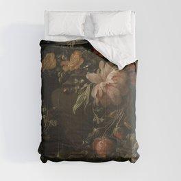 Flowers, Lizards and Insects - Elias van den Broeck (1650-1708) Comforters
