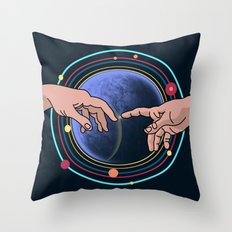 Michelangelo space blue Throw Pillow