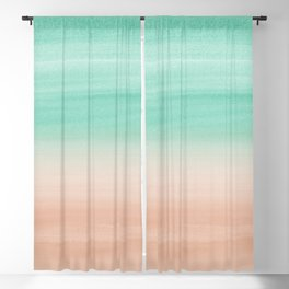 Touching Soft Emerald Beige Watercolor Abstract #1 #painting #decor #art #society6 Blackout Curtain