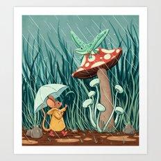 Rainy Day Pals Art Print