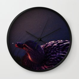 The dark side of the duck Wall Clock