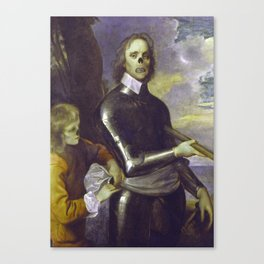 Zombie Oliver Cromwell Canvas Print