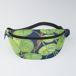 Chinese Money Tree on Navy Ground Fanny Pack