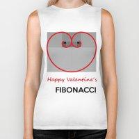 fibonacci Biker Tanks featuring Happy Valentine´s Fibonacci by Solar Designs