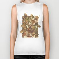 birds Biker Tanks featuring Red-Throated, Black-capped, Spotted, Barred by Teagan White