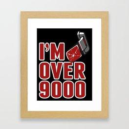 I'm Over 9000 Framed Art Print