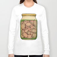 clueless Long Sleeve T-shirts featuring Pickled Pig Revisited by Megs stuff...