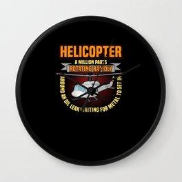 Pilot Aircraft Flight Plane Helicopter Airport Wall Clock