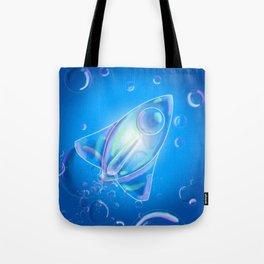 Bubble Rocket Tote Bag