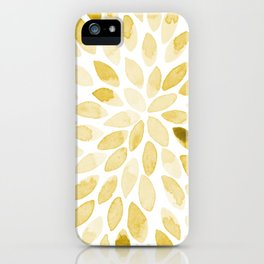 Watercolor brush strokes - yellow iPhone Case
