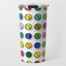 Multi-coloured Pills Pattern square Travel Mug