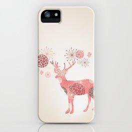 Flower deer iPhone Case
