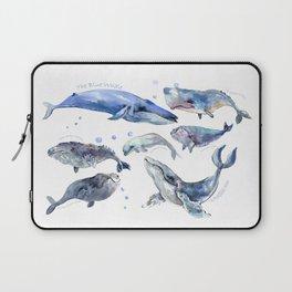Whales, Whale design, whale wall art, sea, marine aquatic animal art, school learning wall Laptop Sleeve