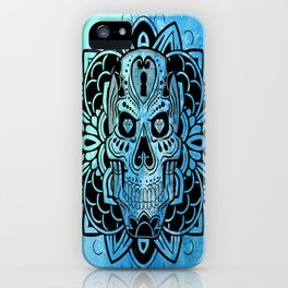 skull mandalla iPhone Case