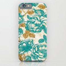 Cyan roses Toile de Jouy Slim Case iPhone 6s