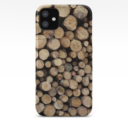 Wooden logs iPhone Case