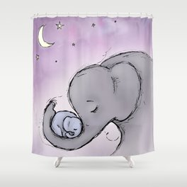 Goodnight Elephants Shower Curtain