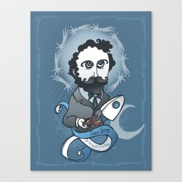 Jules Verne Holy Writer Canvas Print