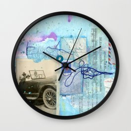 a day by the sea Wall Clock
