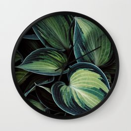 Tropical Leaves III Wall Clock