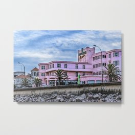 Old Style Waterfront Hotel, Montevideo, Uruguay Metal Print