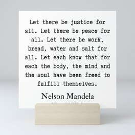 41  | Nelson Mandela  Quotes | 190818 Mini Art Print