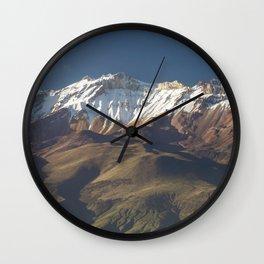 Volcano Chachani near city of Arequipa in Peru Wall Clock