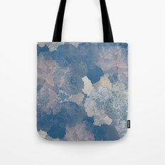 Airforce Blue Floral Hues  Tote Bag