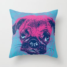 HypnoPug Throw Pillow