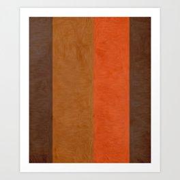Shades of Brown Art Print