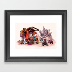 The Support Food Truck Framed Art Print