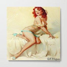 Pin Up Girl Bedside Manner Gil Elvgren Metal Print