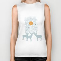 pixies Biker Tanks featuring All Good Deer go to Heaven by Cocorrina