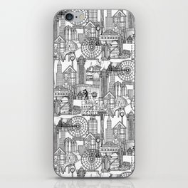 Seattle black white iPhone Skin