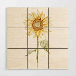 Sunflower 01 Wood Wall Art