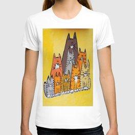 9 cats T-shirt