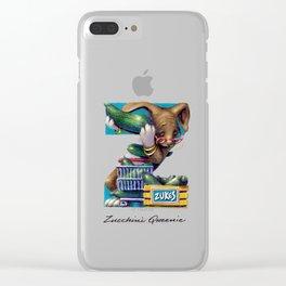 Zucchini Queenie Clear iPhone Case