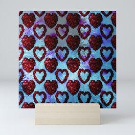 Gothic Rose Petal Hearts Mini Art Print