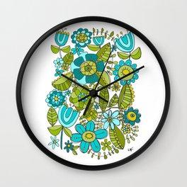 Botanical Doodles Wall Clock