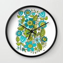 Botanical Doodles Wall Clock