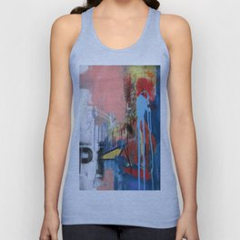 Abstract Mixed Media Compositon V.127 Unisex Tank Top