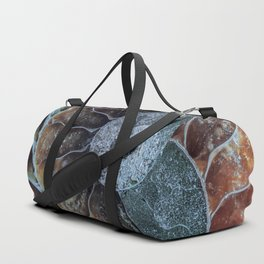 Spiral Ammonite Fossil Duffle Bag