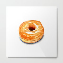 A Simple Glazed Donut Metal Print