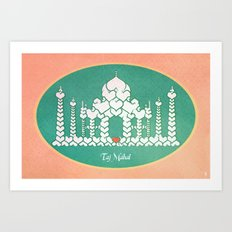 Taj Mahal is Love Art Print