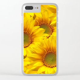 Yellow Mellow Sunflower Bouquet #decor #society6 #buyart Clear iPhone Case
