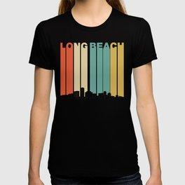 Vintage 1970's Style Long Beach California Skyline T-shirt