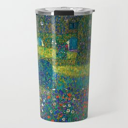"""Gustav Klimt """"Country House by the Attersee"""" Travel Mug"""
